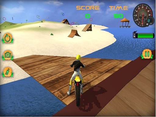 Moto Beach Jumping Simulator Game