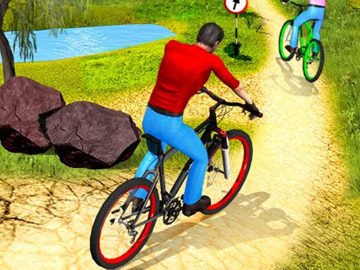 Uphill Offroad Bicycle Rider
