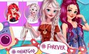 Ariel and Elsa Instagram Stars